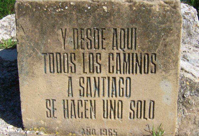 Inschrift in Puente de la Reina