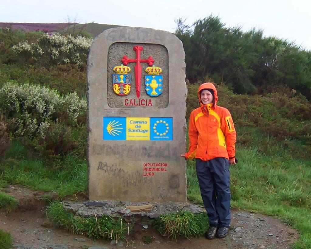 Grenzstein zu Galicien in Spanien