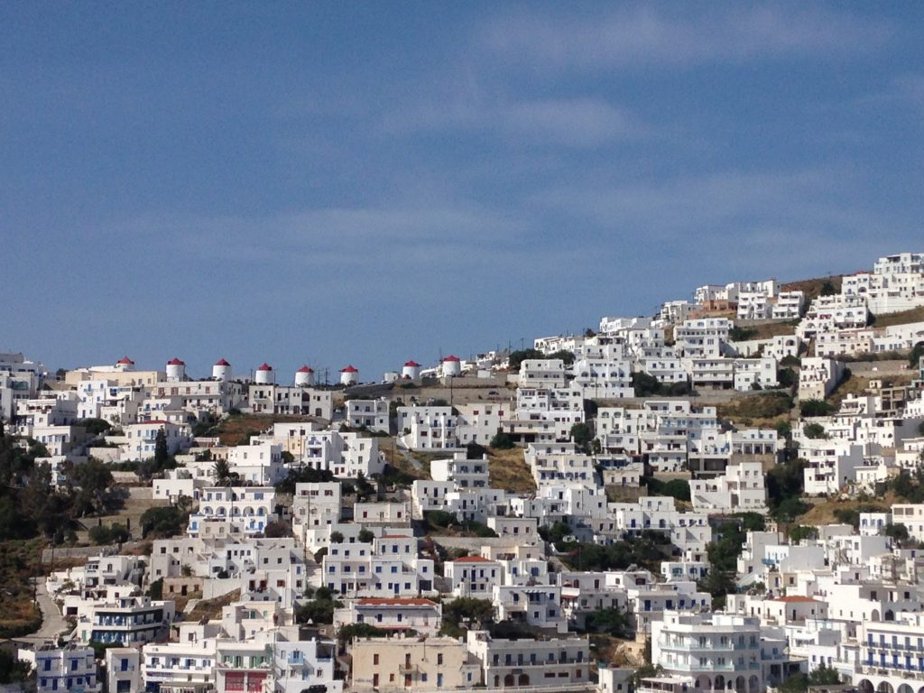 Astypalea: Ausblick von meinem Balkon im Ixthioessa Hotel