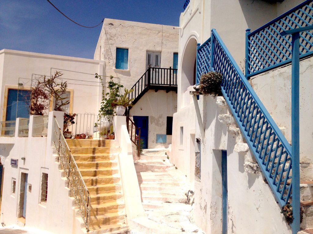 Typische, alte Häuser auf Astypalea