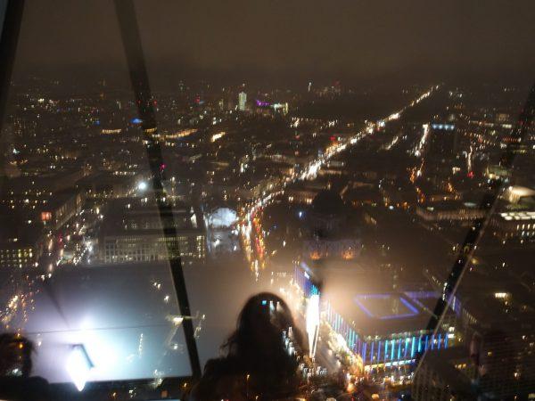 Aussicht bei Nacht am Berliner Fernsehturm