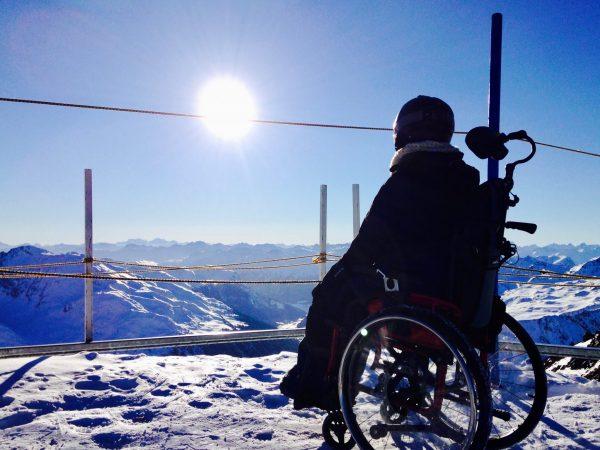Ausblick vom Dreiländerblick am Kaunertaler Gletscher