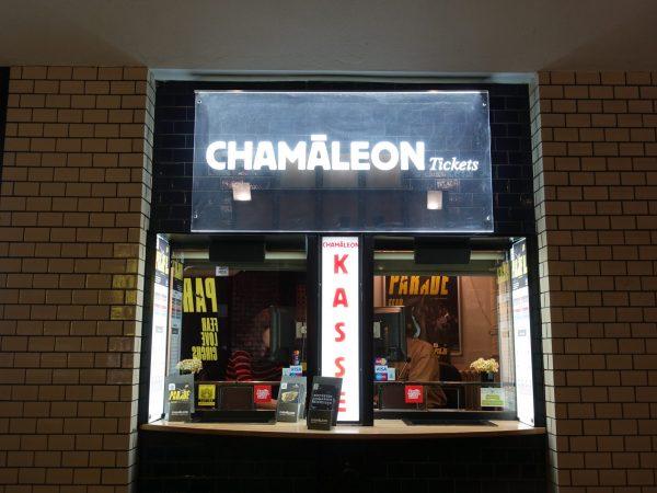 Ticketschalter des Chamäleon Theaters im Durchgang zum 1. Hof in den Hackeschen Höfen