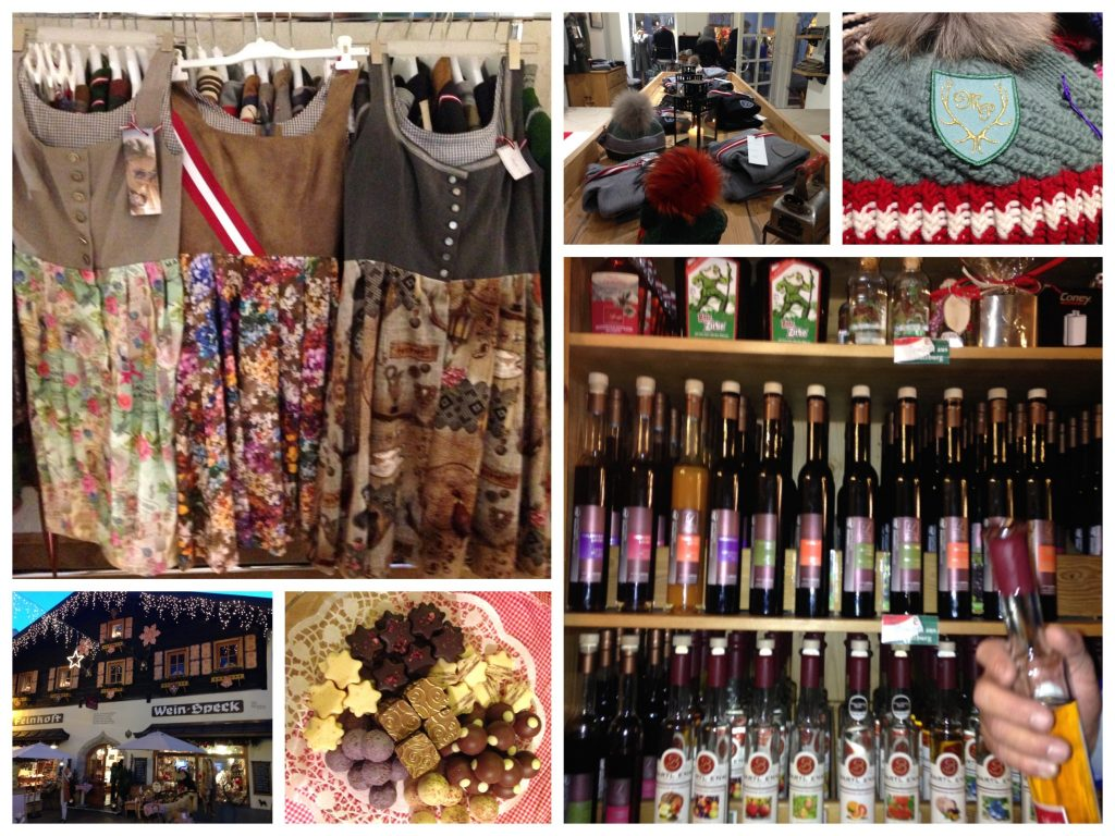 Collage: Kleider & Hauben von Mirabell Plummer & in Lumpis ausgezeichneten Feinkostladen