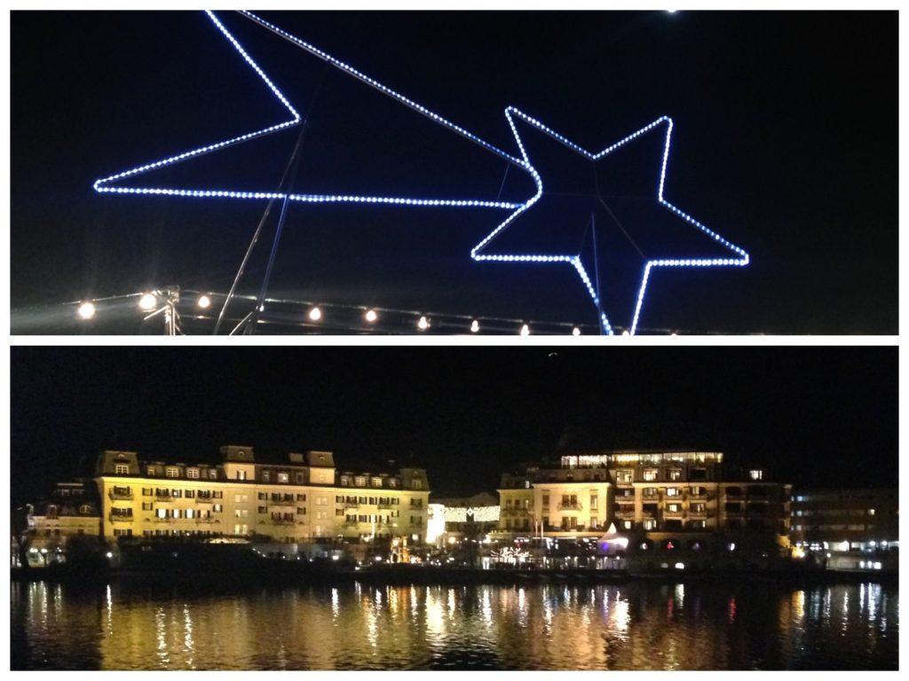 Collage: Die Schifffahrt und die Adventmärkte in Zell am See stehen unter dem Motto der Sterne