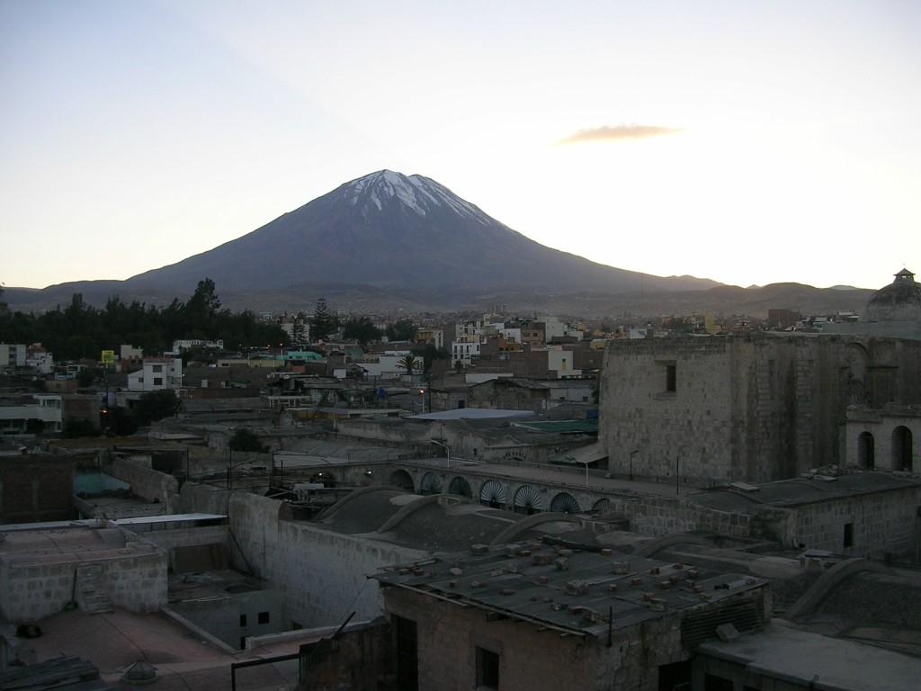 In Arequipa: Ausblick von meinem Hostel