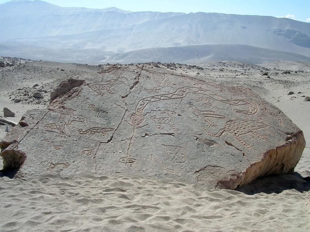 Toro Muerto Petroglifos nahe Corire bei Arequipa