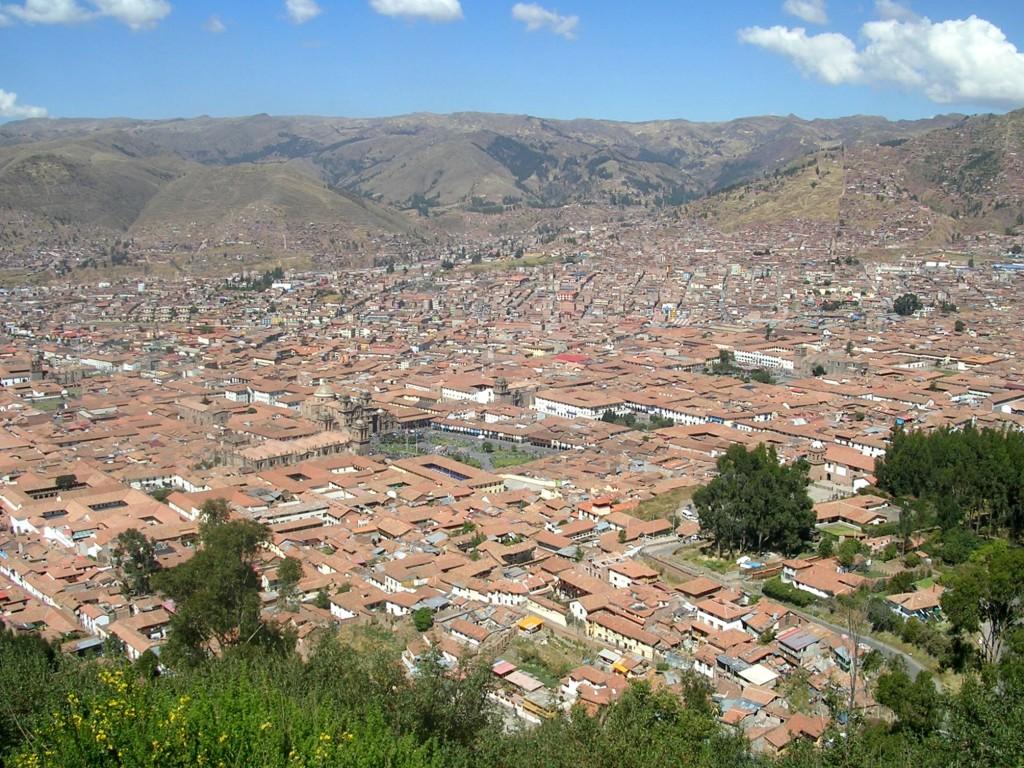 Ausblick über Cusco