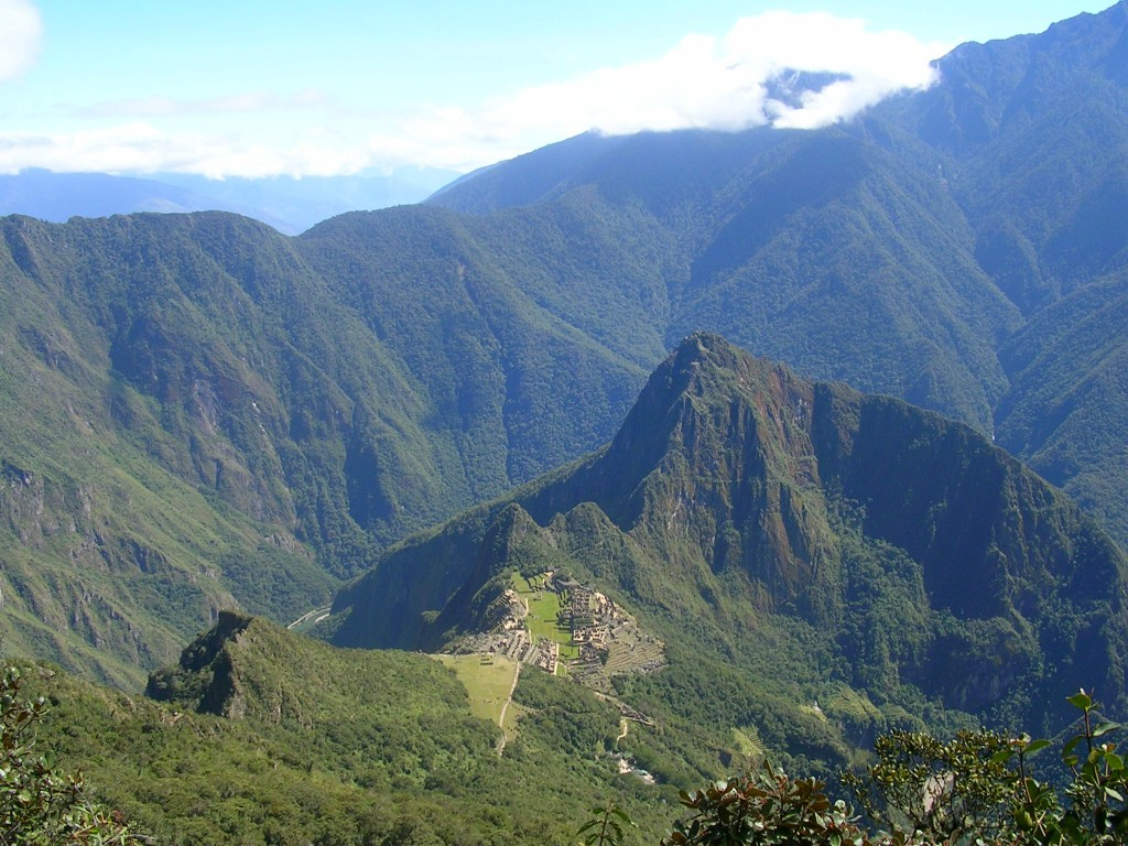 Ausblick vom Montaña Machu Picchu
