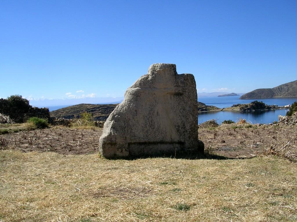 Steinrelikt auf der Isla del Sol