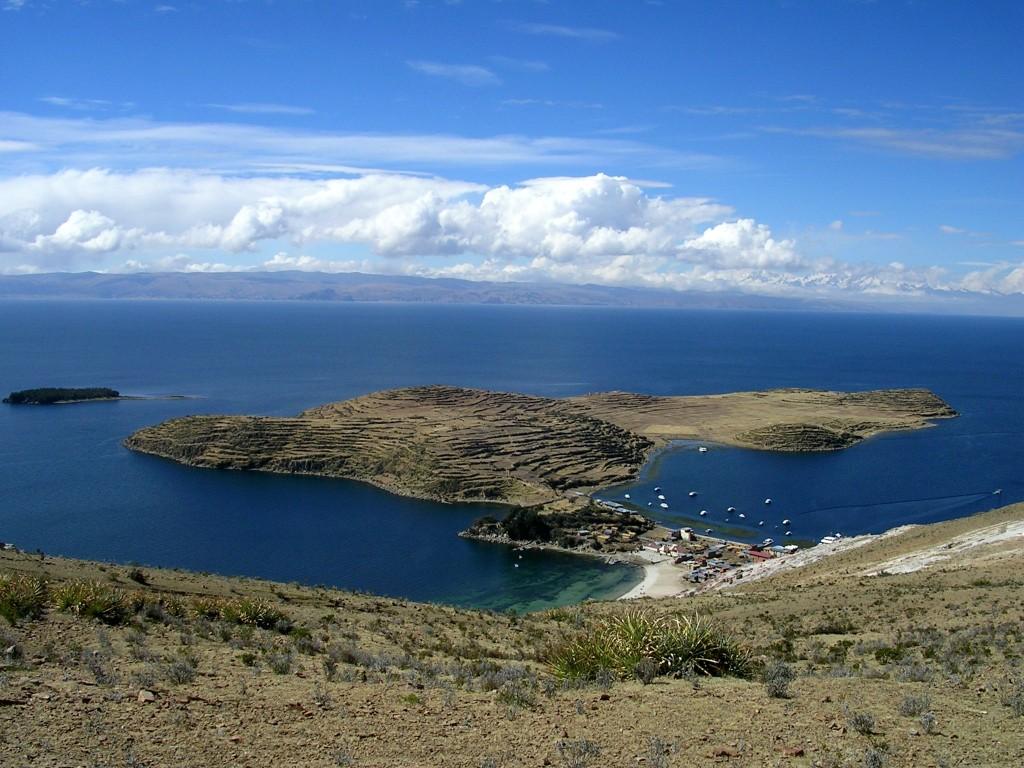 Ausblick auf die Halbinsel Challapampa auf der Isla del Sol