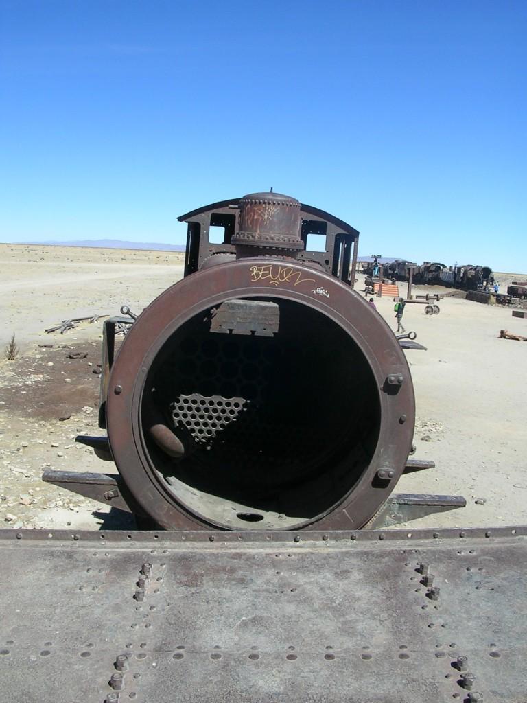 Zugwrack am Eisenbahnfriedhof in der Salar del Uyuni