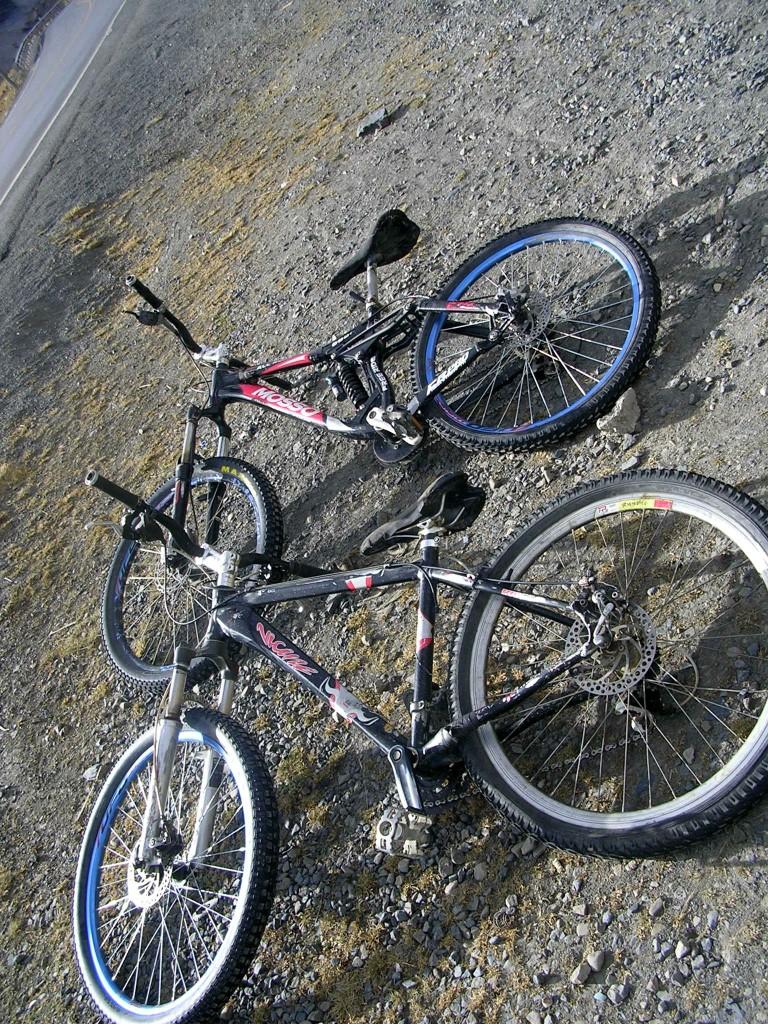 Fahrräder beim Ausflug in die Yungas