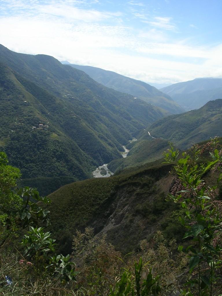 Ausblick in die Yungas