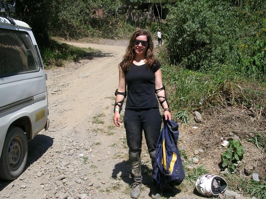 Ich am Ende der Mountainbiketour