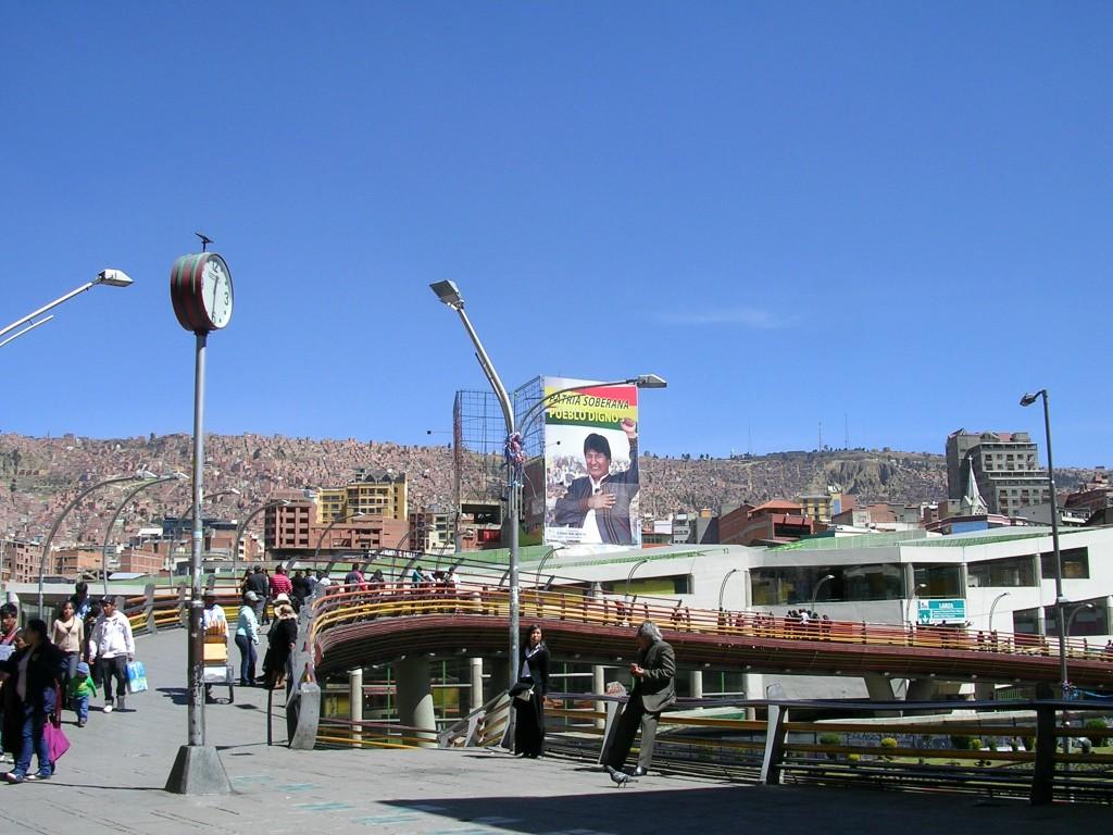 Straßenübergang im Zentrum von La Paz