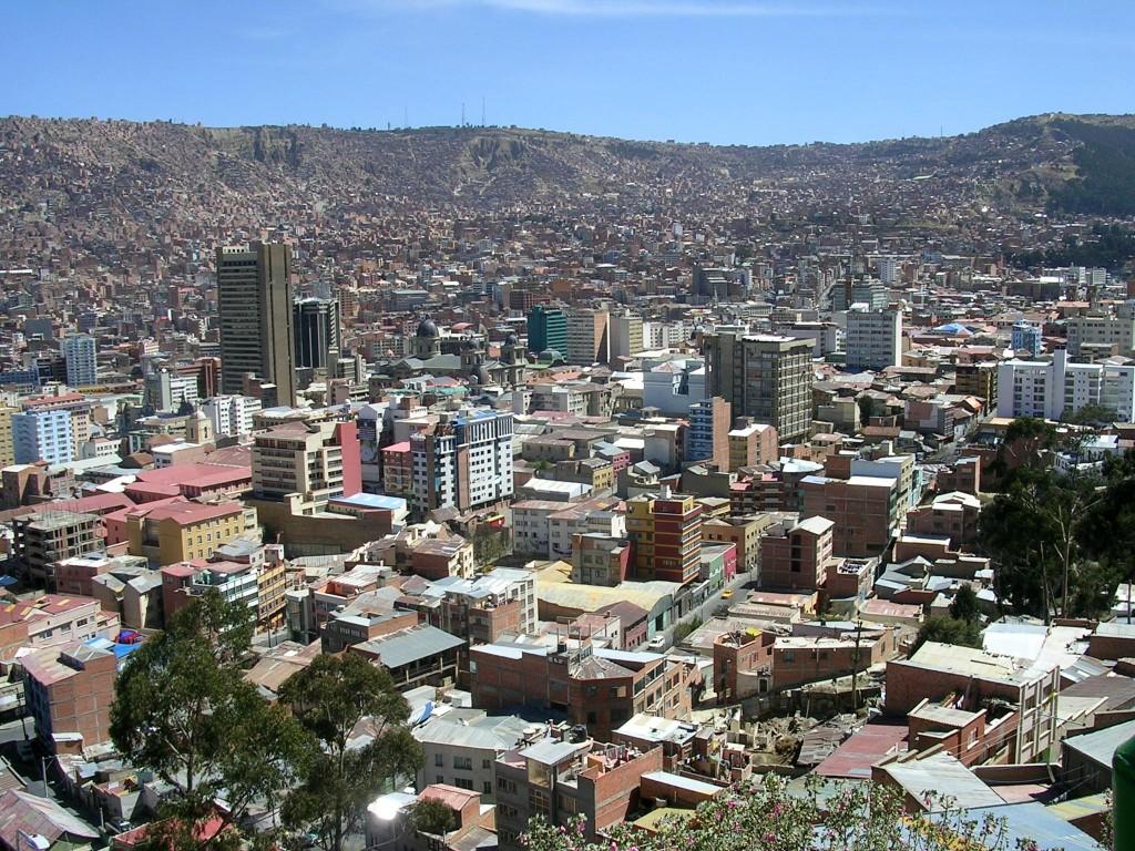 Blick auf La Paz von El Alto