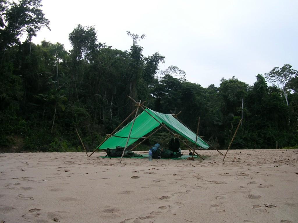 Zeltplatz bei unserer Trekkingtour durch den Madidi Nationalpark