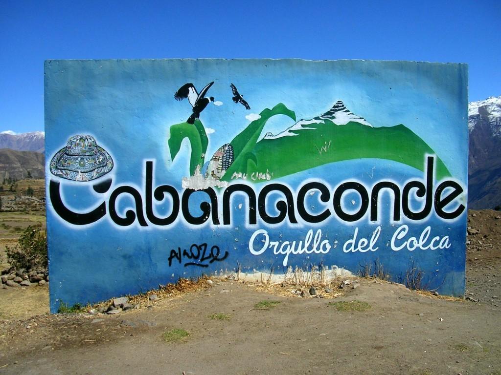 Cabanaconde: Willkommensschild