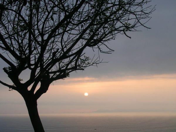 Sonnenuntergang am Meer in Lima