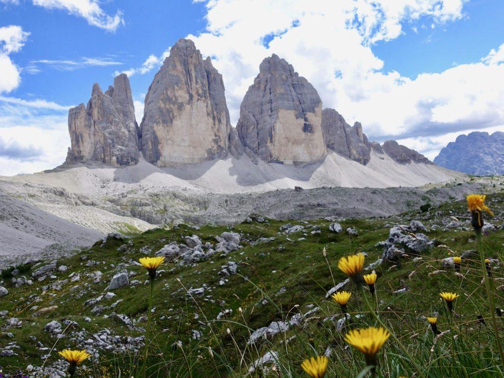 Die Drei Zinnen in den Dolomiten