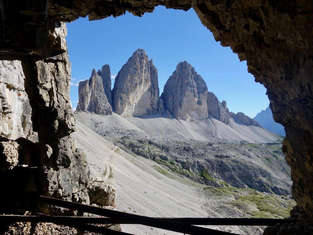 Drei Zinnen in den Dolomiten in Südtirol