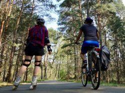Fläming Skate: Am Rundkurs 1 mit Skates & Rad