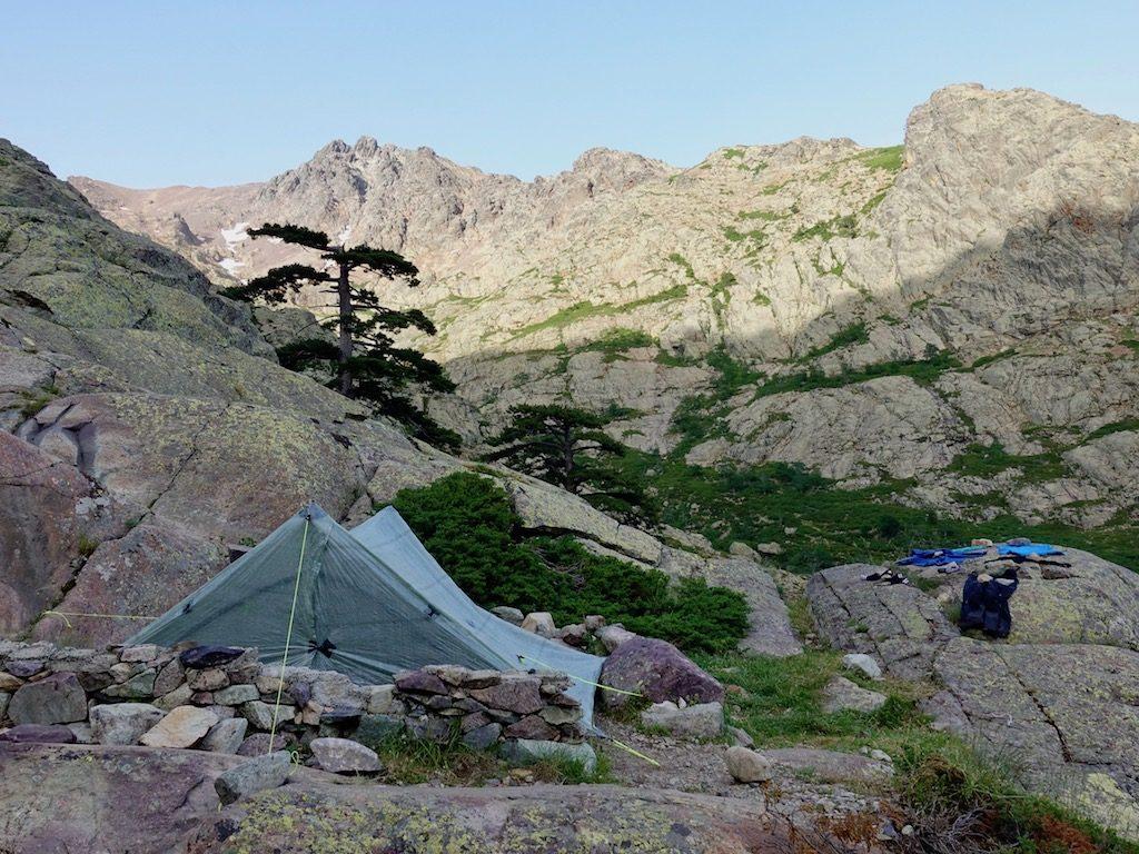 GR20-Korsika-Wandern-Zelt