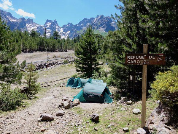 GR20-Korsika-Wandern - Zelte in Haut-Asco