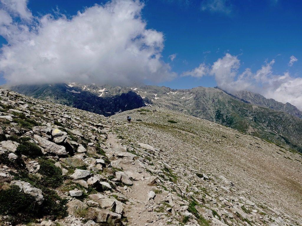 GR20-Korsika-Wandern: Bergaussicht