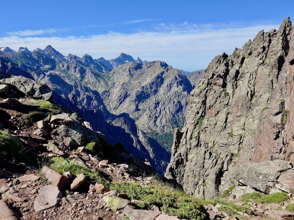 GR20-Korsika-Wandern: Beraussicht