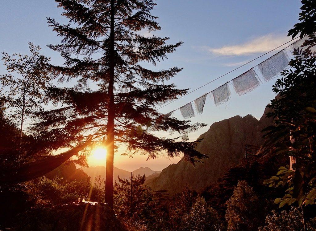 GR20-Korsika-Wandern: Sonnenuntergang
