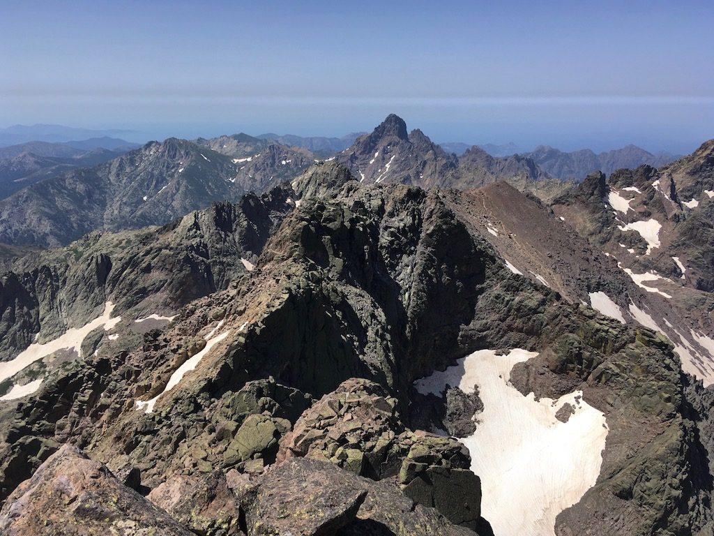 GR20-Korsika-Wandern: Ausblick beim Monte Cinto