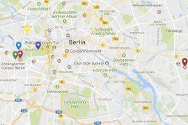 Screenshot von Google My Maps: Straßenkarte für Tierpark, Zoo, Tiergarten.