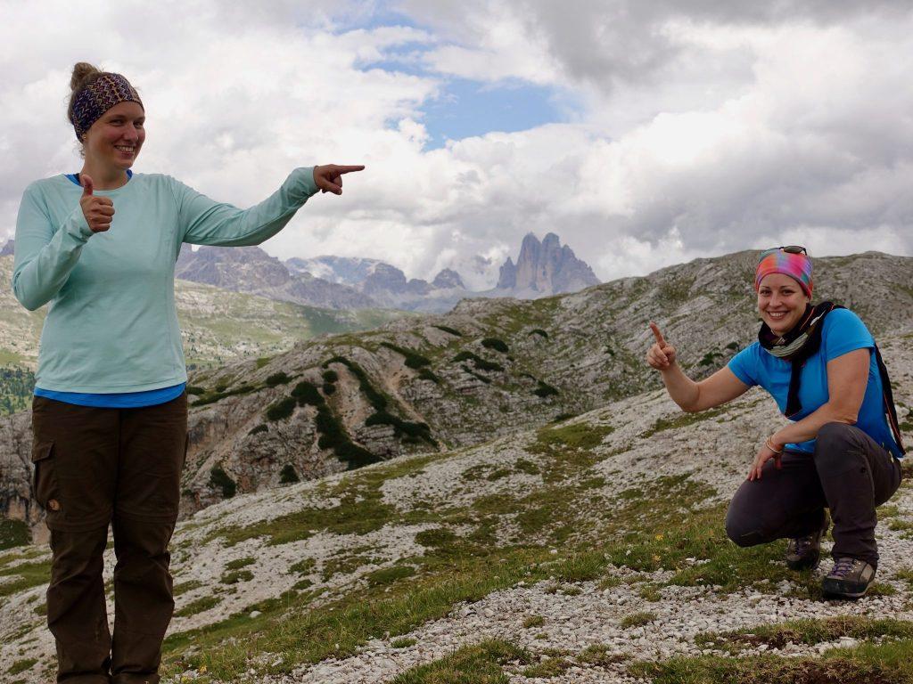 Hochpustertaler Höhenweg: Picknickplatz mit Blick zu den 3 Zinnen