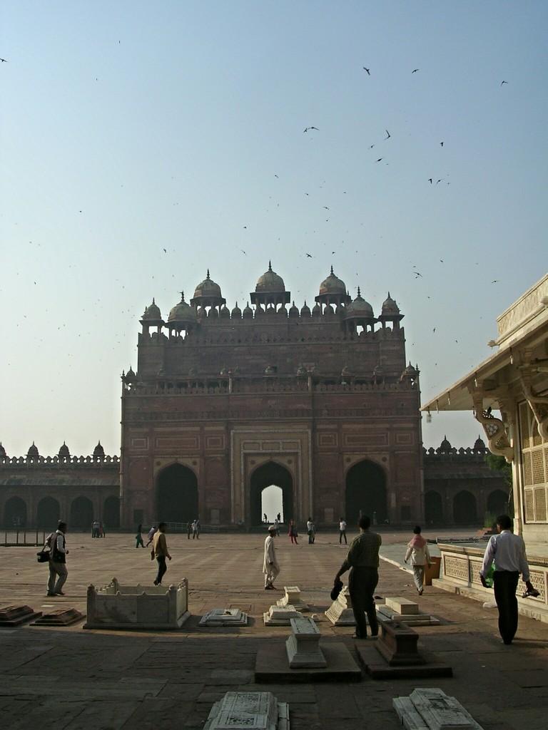 Platz der Jama Masjid Moschee in Fatehpur Sikri
