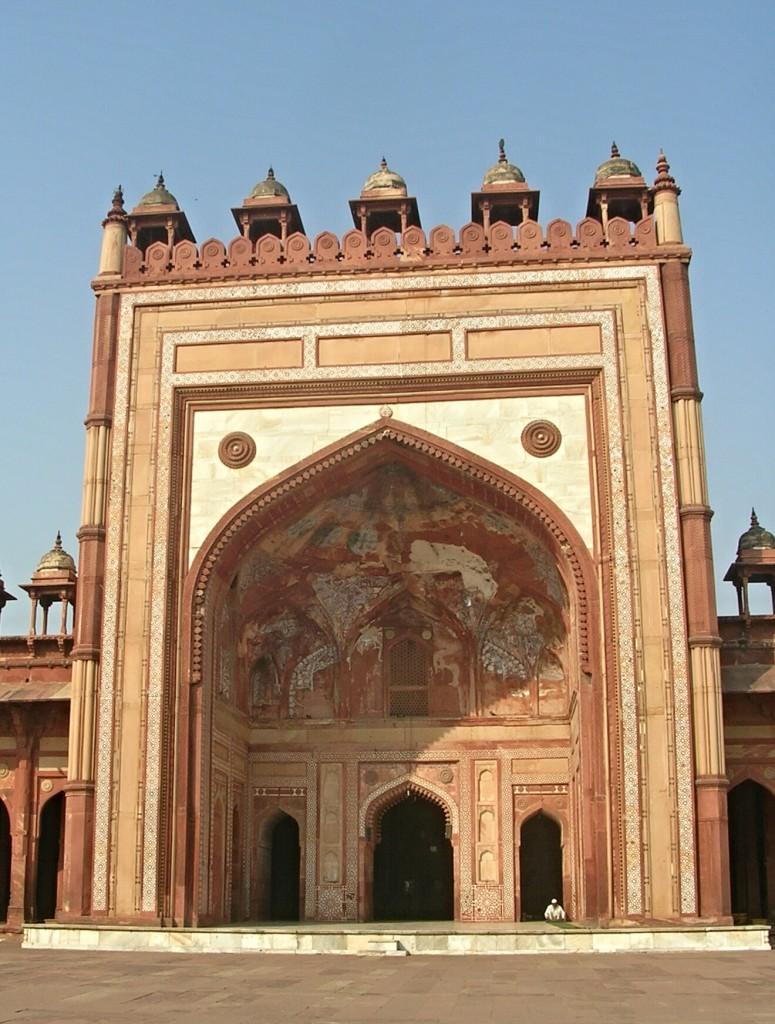Torbogen in Jama Masjid Moschee in Fatehpur Sikri