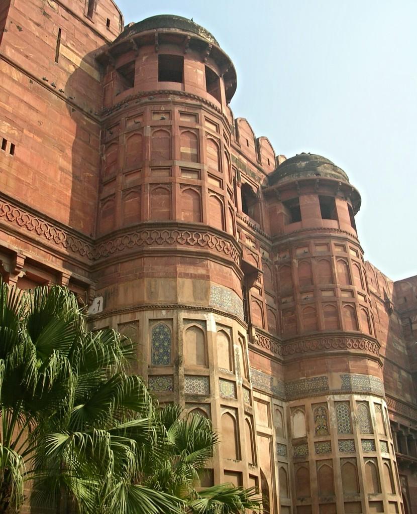 Gebäude im Roten Fort in Agra