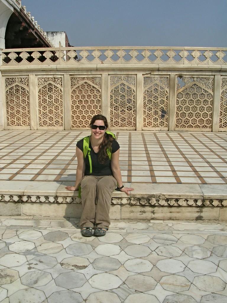 Ich im Roten Fort in Agra