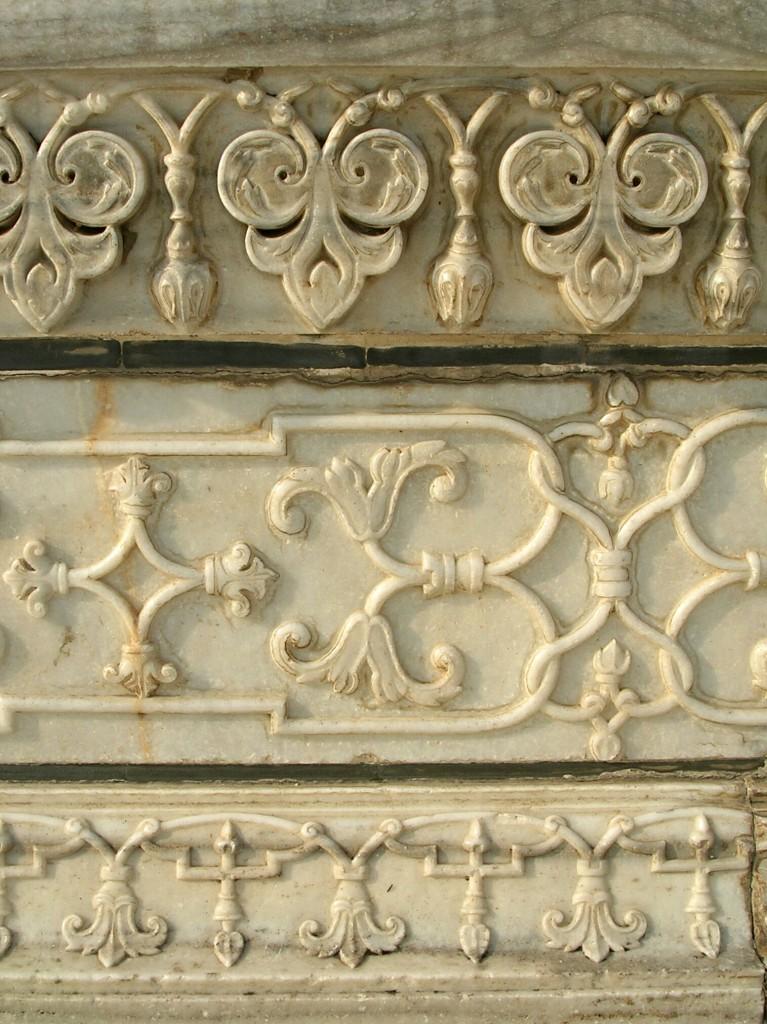 Wanddekoration im Taj Mahal