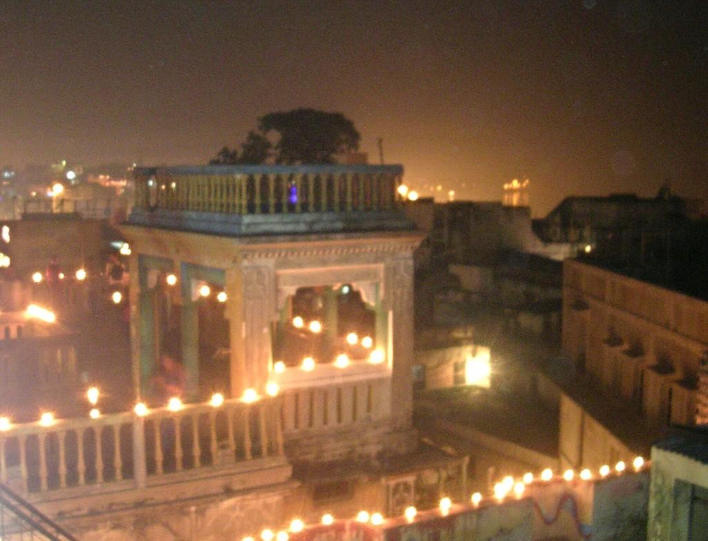 Diwali Beleuchtung in Varanasi