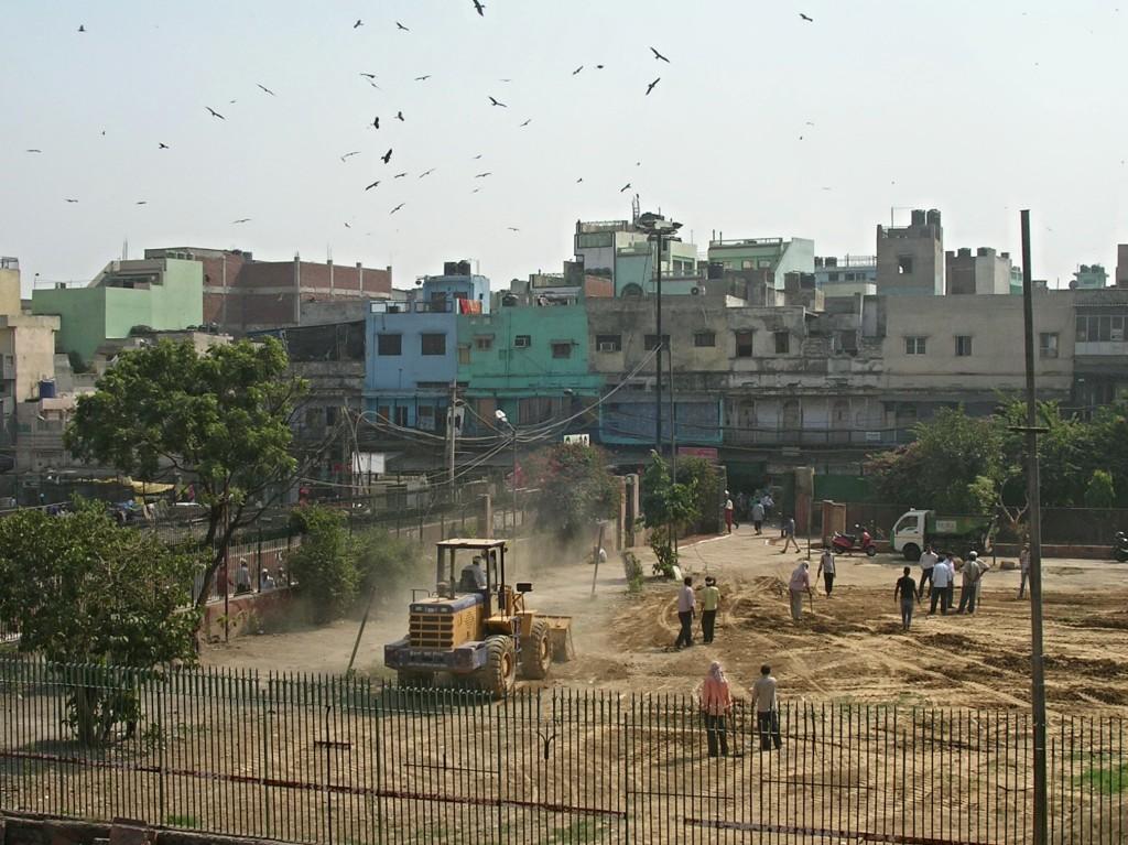 Bauarbeiten nahe der Jama Masjid Moschee in Delhi