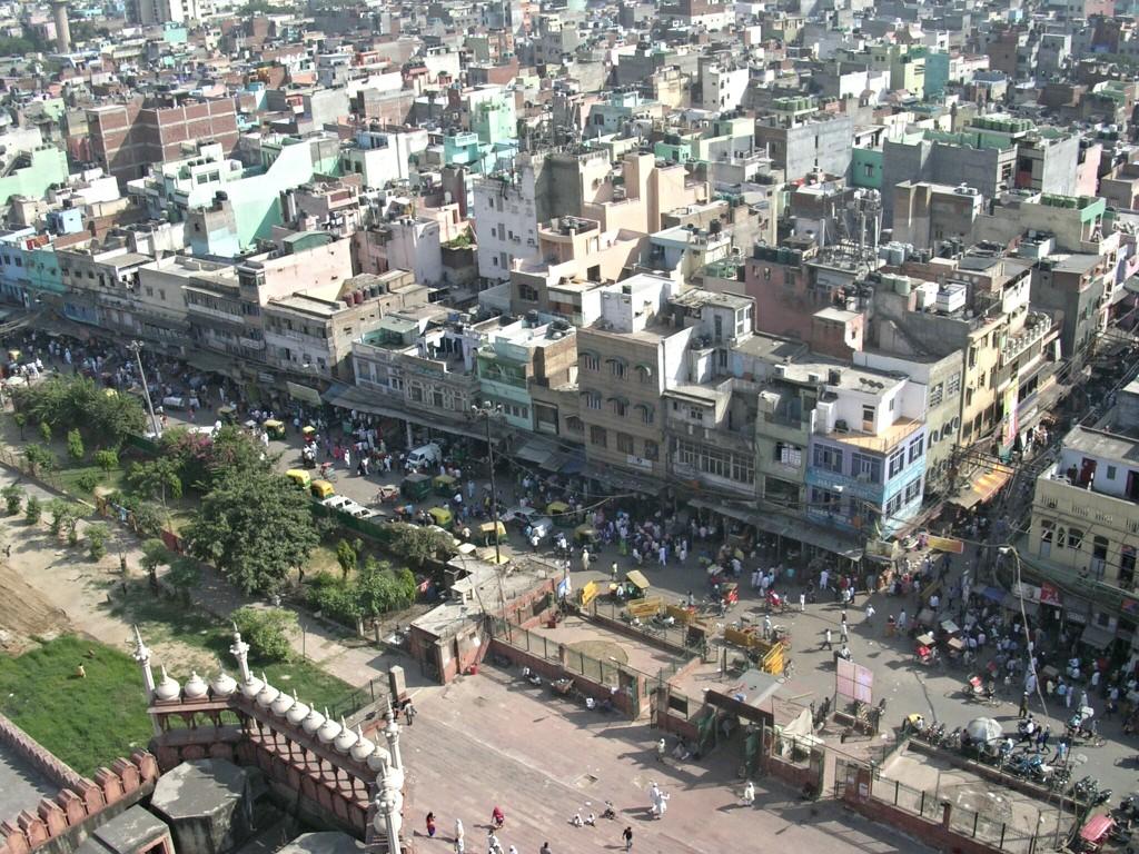 Ausblick von der Jama Masjid Moschee in Delhi