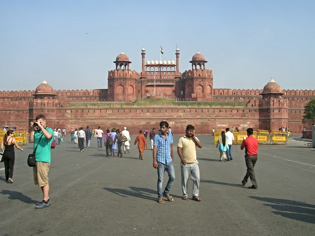 Platz vor dem Red Fort in Delhi