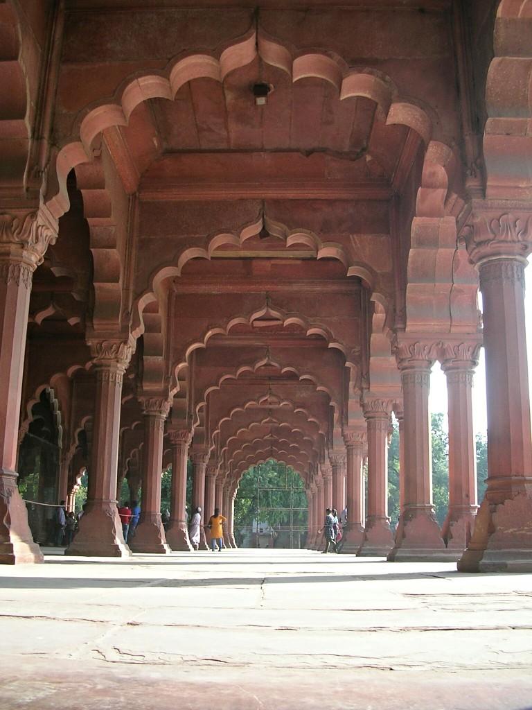 Empfangshalle im Roten Fort in Delhi
