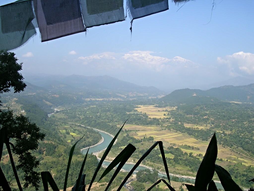 Ausblick von der Siddha Gufa Höhle in Bandipur