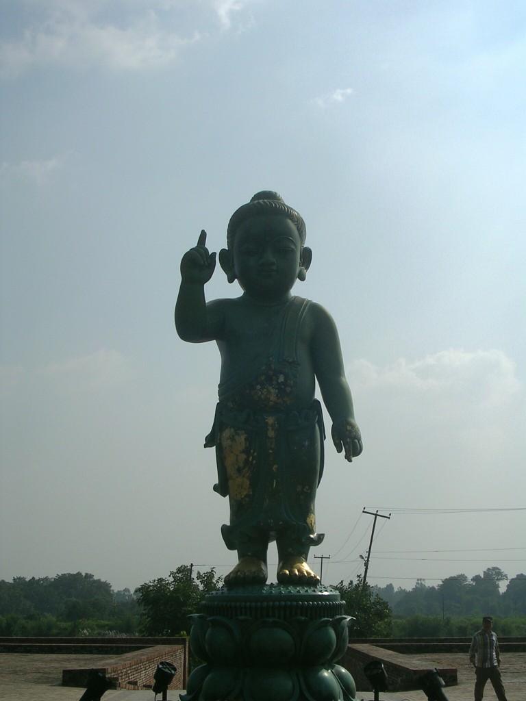Statue Buddhas als Kind