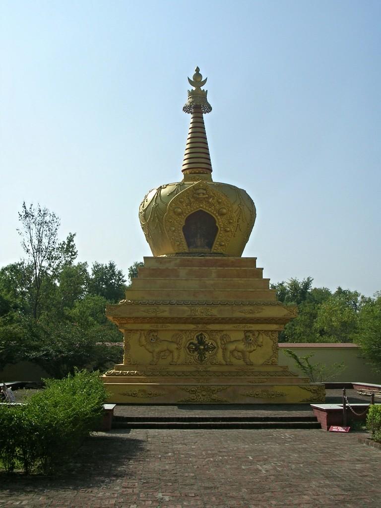 Kleine goldene Stupa in Lumbini