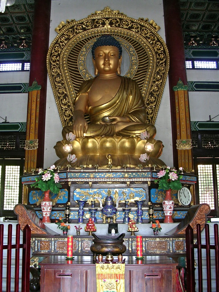 Buddha Statue in einem Tempel