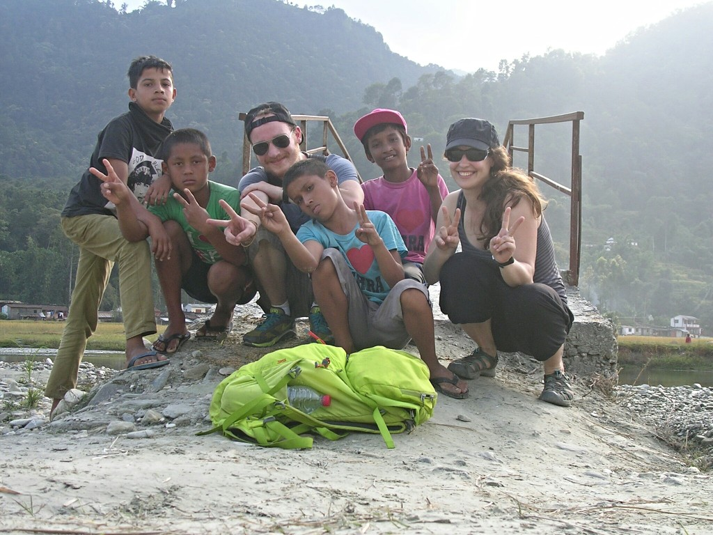 Gruppenfoto Radtour mit Kids